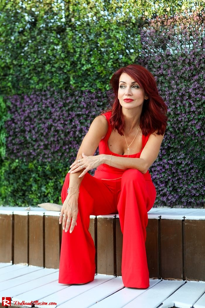 Redhead Illusion - Fashion Blog by Menia - Color your mood - Lulus Jupsuit-05