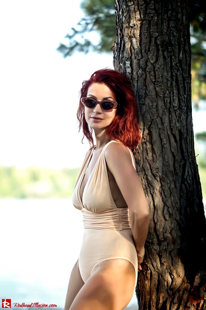 Redhead Illusion - Fashion Blog by Menia - Lately - Aug-01 - Nude is hot - Asos One Piece Swimsuit