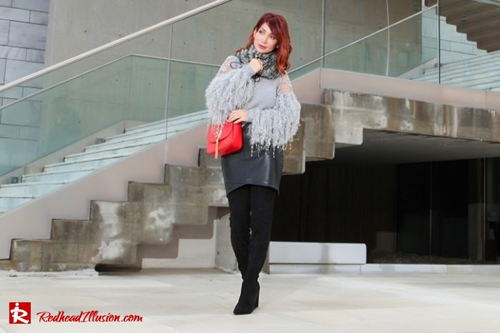 Redhead Illusion - Fashion Blog by Menia - Sophisticated Grey - Missguided OTK Boots-03a