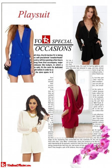 Playsuit - An alternative suggestion for an event or a night out!