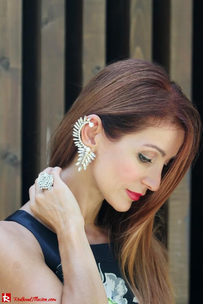 Redhead Illusion - Orchids - Embellishment Dress with Ear Cuff-06