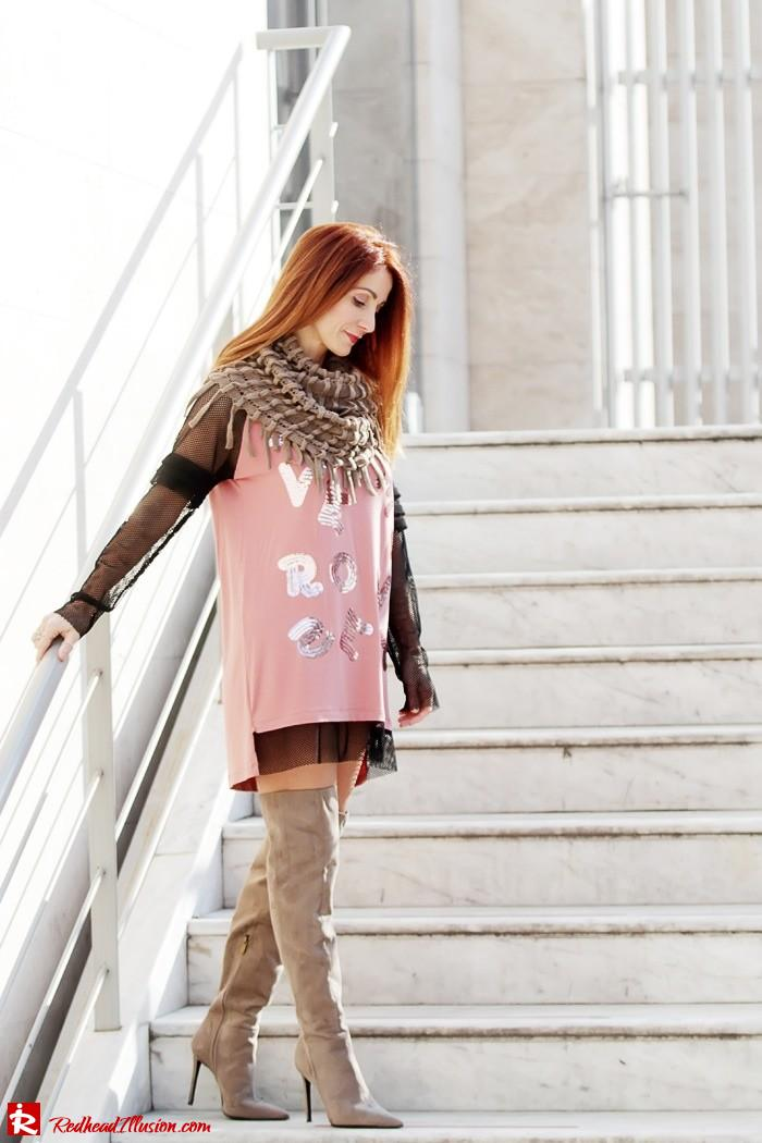 Redhead Illusion - Fashion Blog by Menia - High Obsession - Denny Rose Dress - Over the knee Boots-08