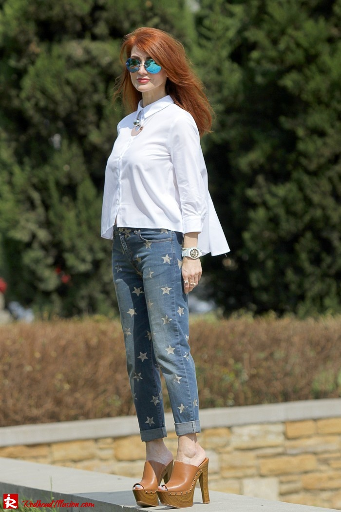 Redhead Illusion - Fashion Blog by Menia - Not classic - Denny Rose Jeans and Shirt-05