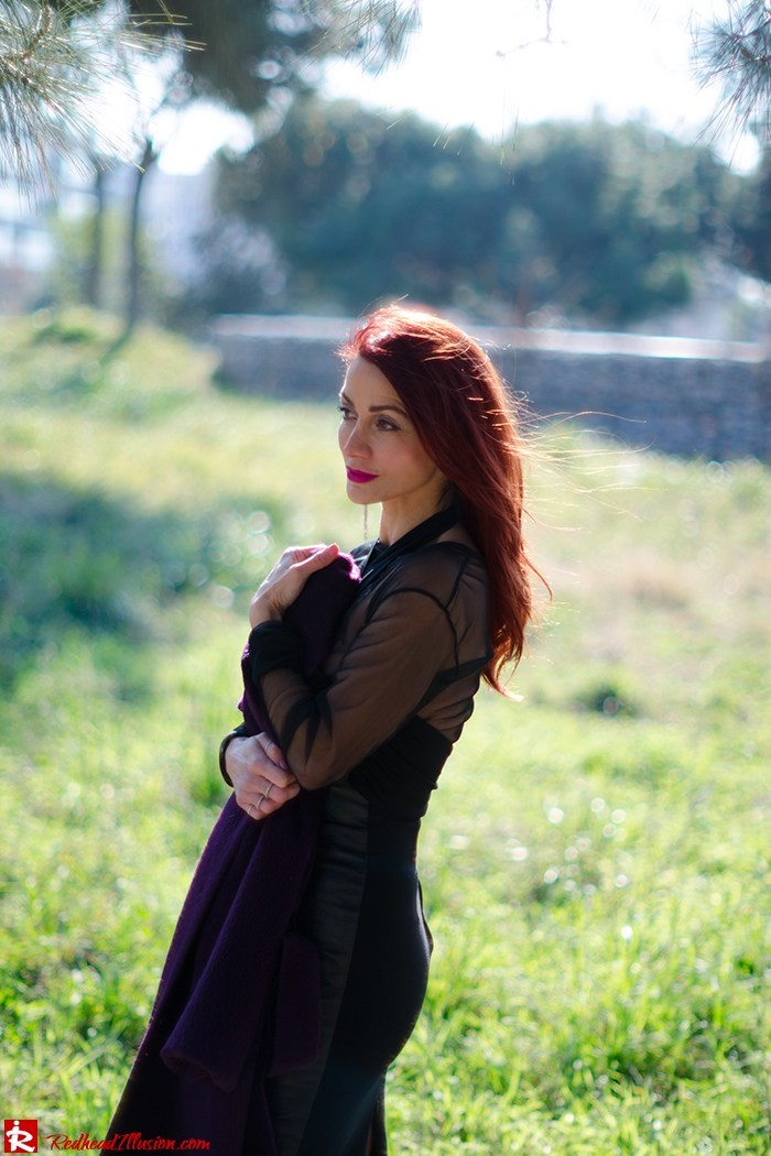 Redhead Illusion - Fashion Blog by Menia - A cropped... day - Yoins Top - Zini Skirt - Boss Coat-08