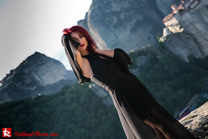 Redhead Illusion - Fashion Blog by Menia - Suspended in Space - Toi-Moi - Maxi Dress-11
