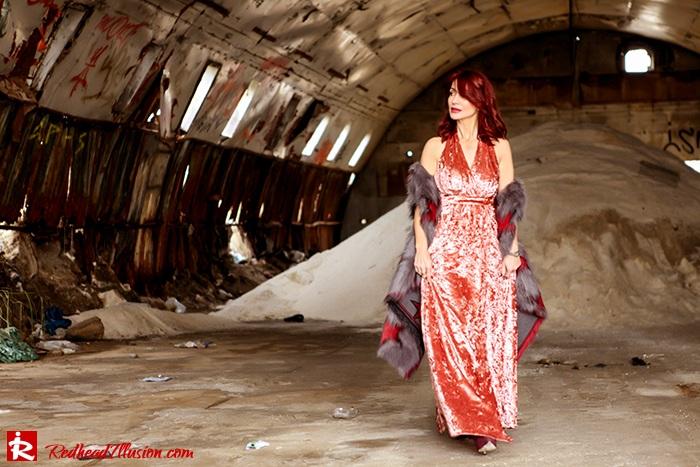 Redhead Illusion - Fashion Blog by Menia - So old so new - Missguided Dress-03