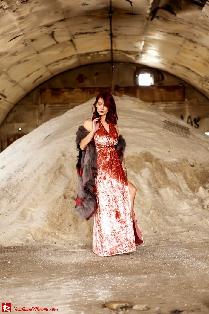 Redhead Illusion - Fashion Blog by Menia - So old so new - Missguided Dress-06
