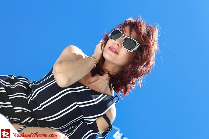 Redhead Illusion - Fashion Blog by Menia - Stripe...tease - Zara Dress and H&M Espadrilles-02