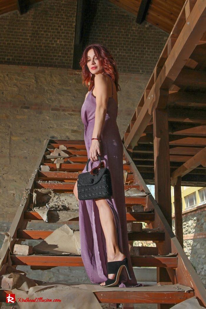 Redhead Illusion - Fashion Blog by Menia - Purple Power - Missguided Jumpsuit-03